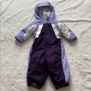 Lands End snowsuit Size 12-18 months purple